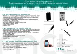 FR : Stylet aluminium compact avec stylo intégré