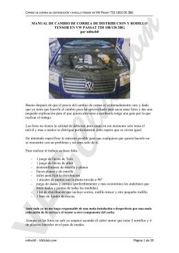 Manual de cambio de correa de distribución y rodillo tensor en VW