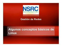 Algunos conceptos básicos de Linux