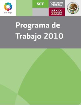 programa de trabajo 2010 del sector comunicaciones y transportes