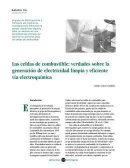 Las celdas de combustible - Instituto de Investigaciones Eléctricas