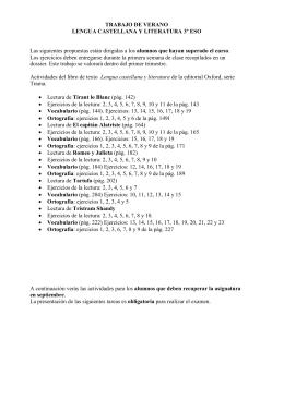 TRABAJO DE VERANO LENGUA CASTELLANA Y LITERATURA 3º
