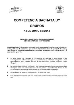 COMPETENCIA BACHATA UY GRUPOS