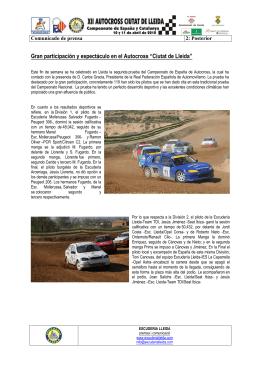 Nota de Prensa Posterior