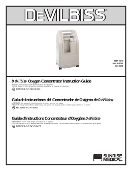 DeVilbiss® Oxygen Concentrator Instruction Guide Guía de
