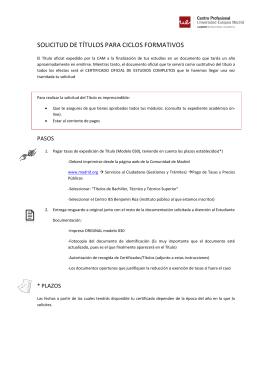 solicitud de títulos para ciclos formativos