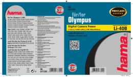 Olympus - hama.nl