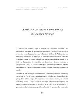 15 GRAMÁTICA UNIVERSAL Y PORT