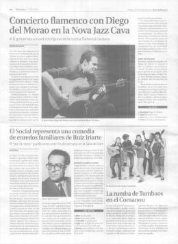 Concierto flamenco con Diego del Morao en la Nova Jazz Cava
