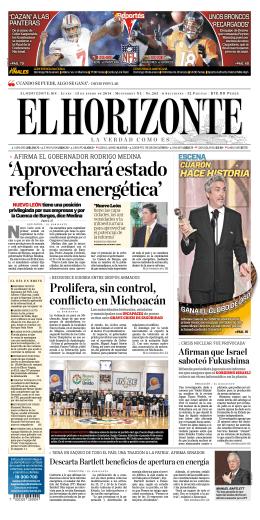 `Aprovechará estado reforma energética`