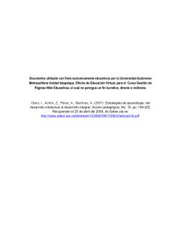 Estrategias de aprendizaje - Páginas Web Educativas