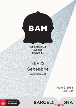 20-23 Setembre - Ajuntament de Barcelona