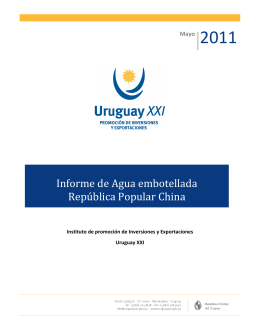 informe-china-agua-embotellada-uruguay-xxi-may-2011