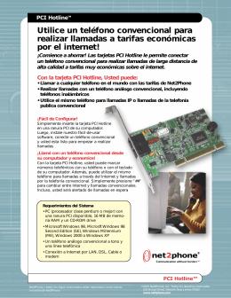 PCI Hotline Sheet