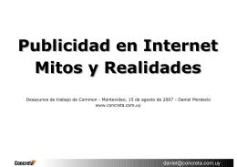 Publicidad en Internet - Mitos y Realidades