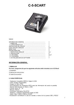 C5 Scart Manual
