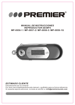 manual de instrucciones reproductor de mp3 mp-0956-1