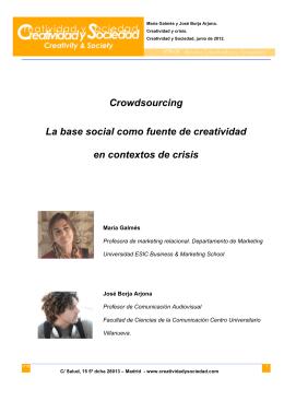 Crowdsourcing La base social como fuente de creatividad en