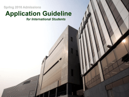 Application Guideline - KDIS Admissions