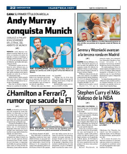 andy Murray conquista Munich
