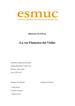 1. El flamenco