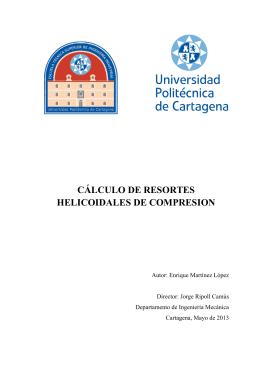 cálculo de resortes helicoidales de compresion