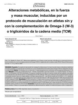 Alteraciones metabólicas, en la fuerza y masa muscular, inducidas