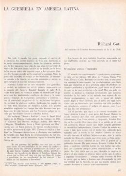 LA GUERRILLA EN AMERICA LATINA Richard Gott