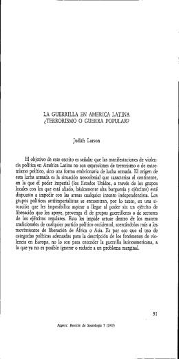 LA GUERRILLA EN AMÉRICA LATINA cTERRORISMO O