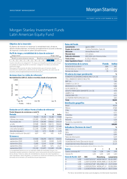 Morgan Stanley Investment Funds Latin American Equity Fund