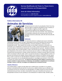Animales de Servicios - Great Lakes ADA Center