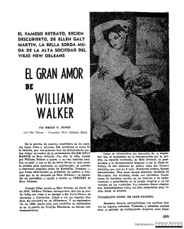 El gran amor de William Walker - Revista Conservadora