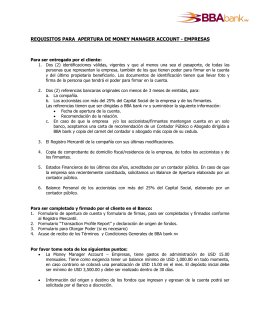 Listado de Requisitos