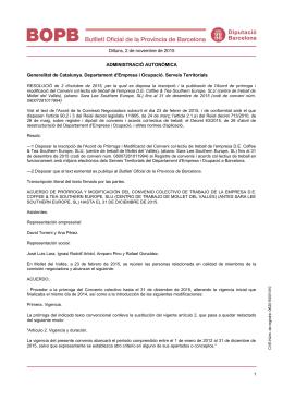 Dilluns, 2 de novembre de 2015 ADMINISTRACIÓ AUTONÒMICA