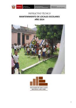 INSTRUCTIVO TÉCNICO - Ministerio de Educación del Perú