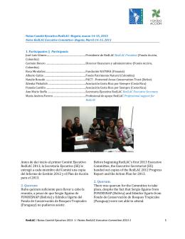 Notas Comité Ejecutivo Marzo 2013 / Notes Executive Committee