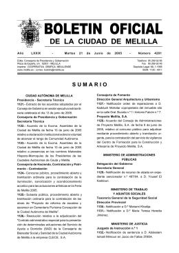 BOLETIN OFICIAL - Ciudad Autónoma de Melilla