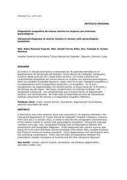 Diagnóstico ecográfico de mioma uterino en mujeres con síntomas