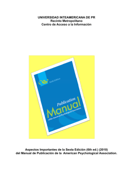 Guía del Manual APA (6th ed.)