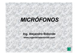 MICRÓFONOS - Ingenieria de Sonido