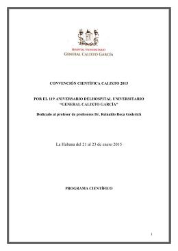 Programa Convención Calixto 2015