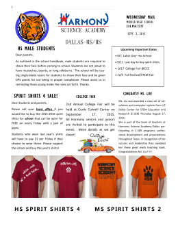 spirit shirts 4 sale! - Harmony Science Academy