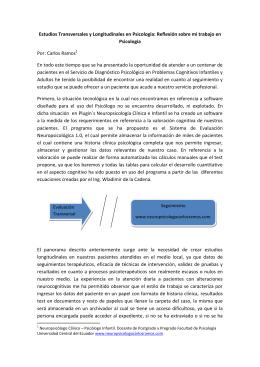 Estudios Transversales y Longitudinales en Psicología: Reflexión