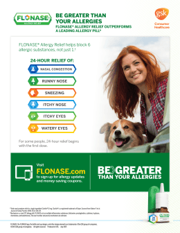 Patient Savings Handout - FLONASE® Allergy Relief