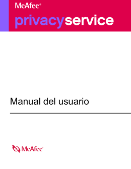 McAfee Privacy Service Manual del usuario
