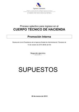 Enunciado CTH PI 2015 - OPEM Oposiciones Hacienda y Formacion