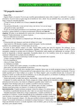Lectura de Mozart