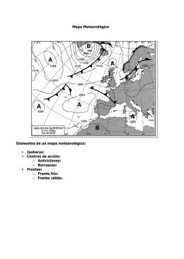 Mapa Meteorológico Elementos de un mapa