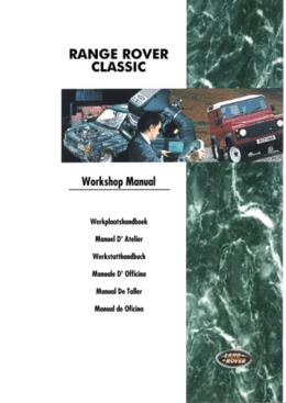 Range Rover Classic My95 - Manual De Taller