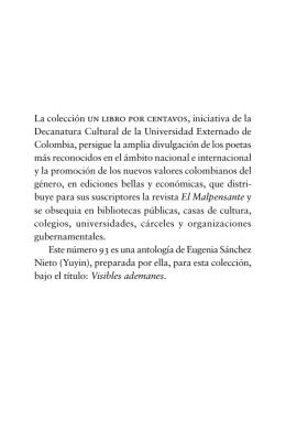 Visibles ademanes - Universidad Externado de Colombia